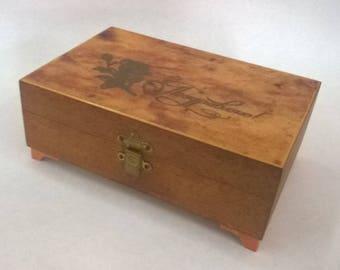 Soviet Vintage Wooden Box