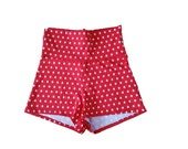Dance Shorts Red with Whi...