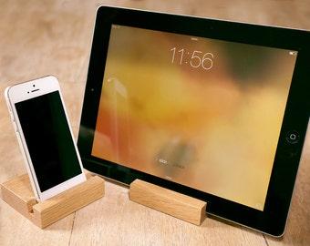 Wooden iPad Stand - Oak