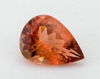 Dark Red Sunstone, Pear, 1.2ct (S1265)