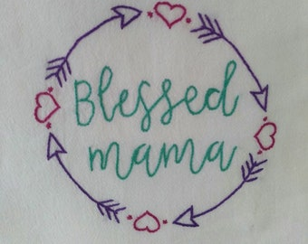 Blessed - hand embroidered kitchen towels