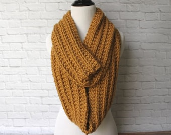 Knit Chunky Infinity Scarf, Infinity Scarf, Thick Knit Scarf, Chunky Scarf, Oversized Scarf, Circle Scarf, Winter Scarf