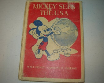 Mickey sees the U S A book Disney
