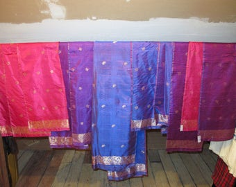 Indian Silk Scarves Lot of 11