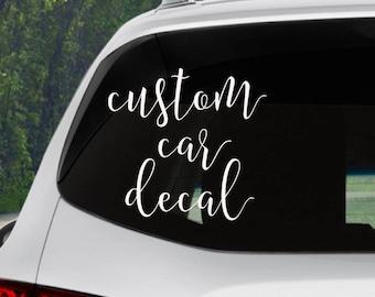Custom Car Decals Etsy - Cars decal maker
