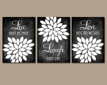 Live Laugh Love Wall Art, Farmhouse Kitchen Home Decor, Chalkboard Quote  Kitchen Wall Art
