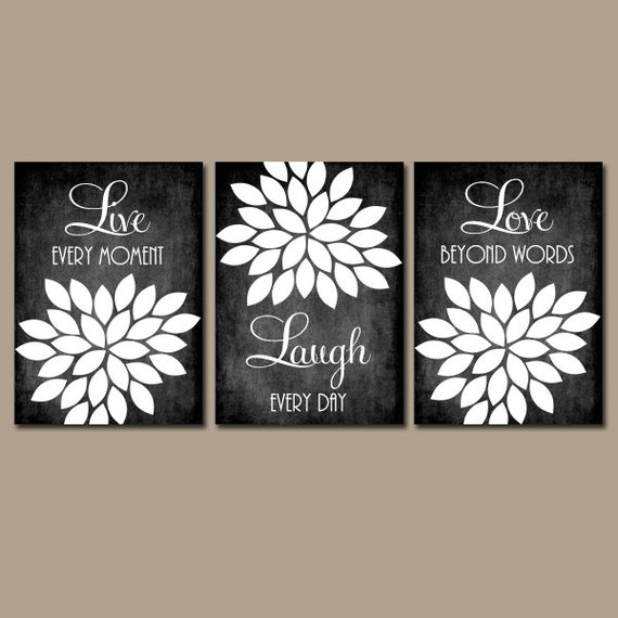 Black And White Paintings For Bedroom Bedroom Sets Black Modern Bedroom Black Bedroom Furniture Sets Pictures: Live Laugh Love Wall Art Farmhouse Kitchen Home Decor