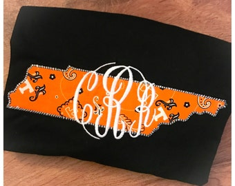 Applique Tennessee Monogrammed Shirt