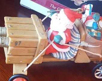 Hallmark Keepsake Ornament 1997 / The Clasus Mobil / Here Comes Santa Claus Ornament