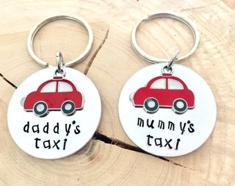 Daddys Taxi, Mummys Taxi, gift for him, gift for her, Dads Taxi, Personalised Gift, funny gift, joke gift, new car, keyring, taxi,