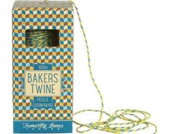 Blue & Yellow 100m Bakers Twine String