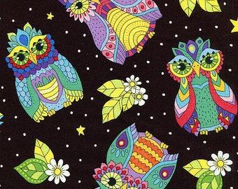 Night Bright Owls - Wilmington Prints - Half Yard