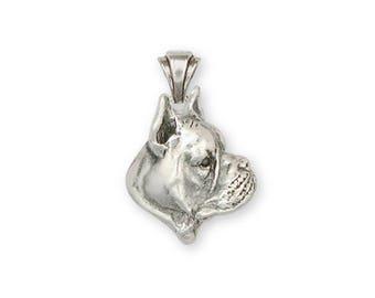 Boxer Pendant Jewelry Sterling Silver Handmade Dog Pendant BX4-P