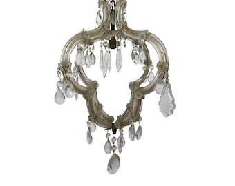 Antique Chandelier Italian Light Murano Chandelier Vintage Chandelier Vintage Ceiling lamp Italian lamp Glass chandelier Crystal chandelier