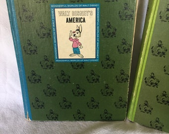 Set of 2 Vintage Walt Disney books
