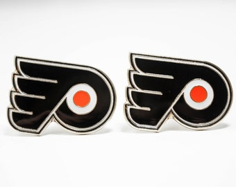 Philadelphia Flyers Cuff Links -- FREE SHIPPING with USPS First Class Domestic Mail