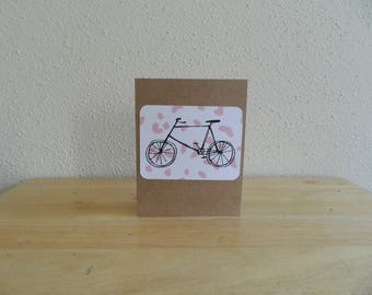Bicycle blank note card
