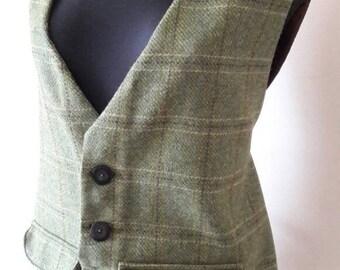 Tweed bespoke waistcoat, men's waistcoat