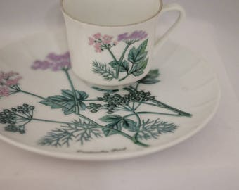 Vintage Snack Set Tennis Set Luncheon Plate Set by Shafford Japan Coriander Seed Tea Party China Teacup Snack Plate