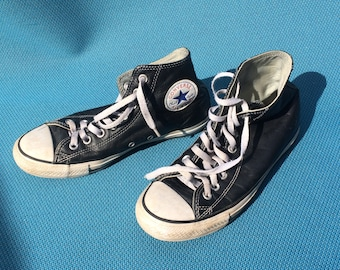 Leather 90's Grunge Converse High Tops