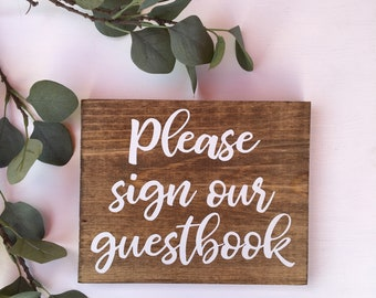 Guestbook Sign Guest Book Sign Rustic Wood Sign Sign In Table Woodland Wedding Sign Wood Wedding Sign Please Sign Our Guestbook Reception
