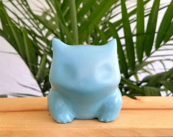 Teal Concrete Bulbasaur Planter
