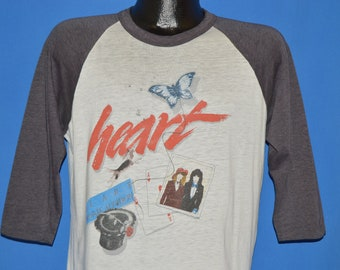 80s Heart Private Audition Tour Jersey 1982 t-shirt Large