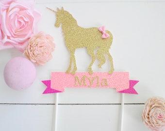 Unicorn Cake Topper, Unicorn Party decoration, unicorn cake, unicorn party