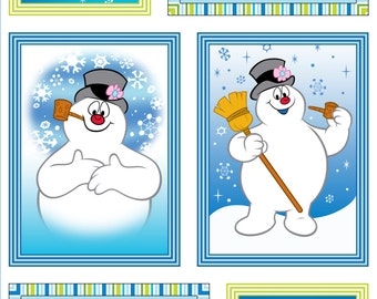 Per Panel, Silly Snowman Frosty the Snowman Fabric Panel  From Quilting Treasures