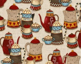 Coffee House by Henry Glass  100% cotton.  114cm wide.
