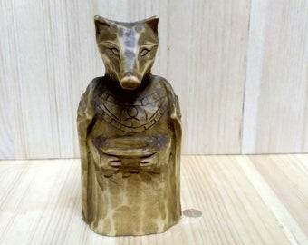 Wooden sculpture - Anubis.