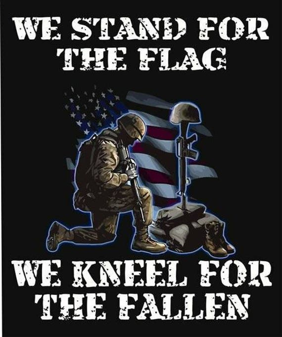 We Stand For The Flag And Kneel For The Fallen Nfl Tool Box