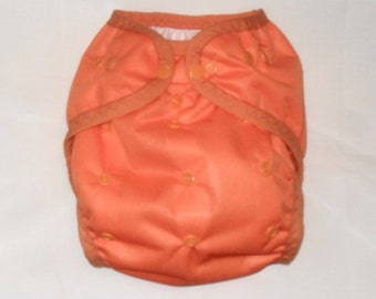 Orange PUL Diaper Cover