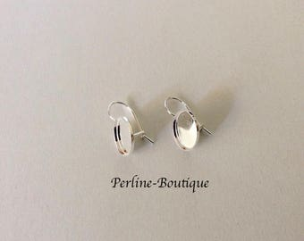 Ear hooks is 925 sterling silver 10mm cabochon