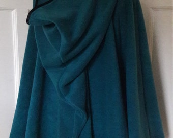 Cape edged with satin binding - pointed hood - your choice of colour - made to order