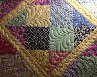Mothers Day Quilted hand made picnic blanket wall hanging decor women ladies baby toddler adult child crib free shipping custom quilted