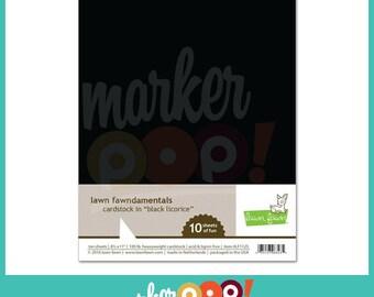 """Lawn Fawn Cardstock 8.5"""" x 11"""" (10 pk) - Black Licorice"""