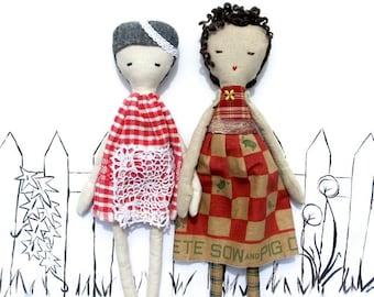 Folk Doll PDF Sewing Pattern - Rag Doll Pattern - Folksy Lady Cloth Doll