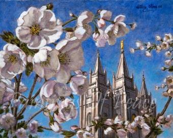 Salt Lake Temple - 11 x 14 - Canvas - Print  - SUPER SALE ITEM