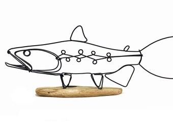 Trout Wire Sculpture, Fish Wire Art, Minimal Wire Design,567270212