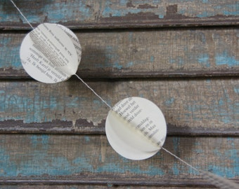Book Garland 3 yard long, monochrome garland, paper garland, party decoration, library decoration