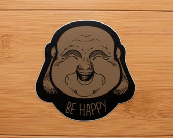 Buddha Be Happy Decal