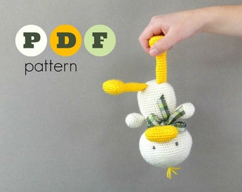 PDF Amigurumi duck pattern. instant download file. Crochet animal pattern.