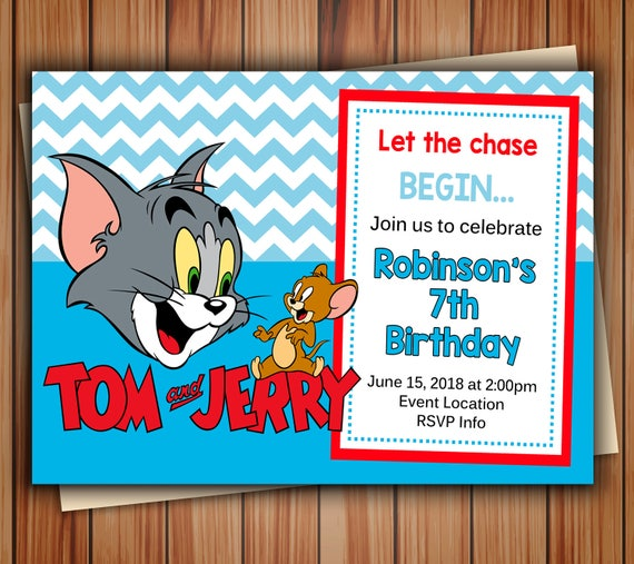 Tom and Jerry Invitations Tom Jerry Invitations