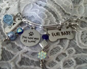Dog Lover Sterling Silver Bangel Bracelet