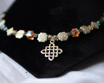 Legend of Zelda Twilight Princess Midna Themed Labyrinth Square Charm Necklace
