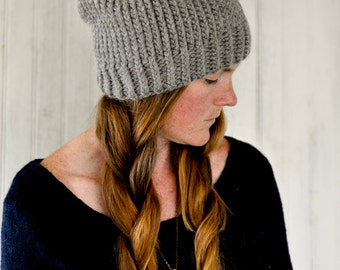 Chunky Knit Hat / The Scarlett / Charcoal