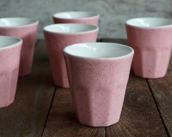 Pink Sherbet Ceramic Espresso Cup - Ceramic Tumbler - Ceramic Cup - Latte Cup - Pink Ceramic Cup