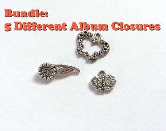 Five different album closures (Bundle sale)