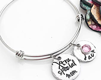 Down Syndrome Bracelet, Down Syndrome Jewelry for Mom, Down Syndrome Awareness, Extra Chromosome, Down Syndrome Mom, Personalized Bracelet